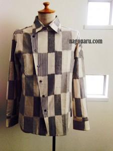 久留米絣のシャツ6