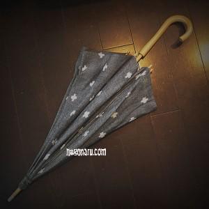 久留米絣の日傘5