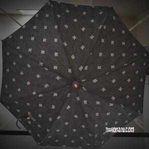 久留米絣の日傘2