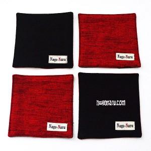 コースター赤黒2